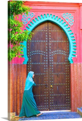 Traditional Moroccan Decorative Door, Tangier, Morocco, North Africa