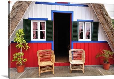 Traditional Santana thatch house, Madeira, Portugal