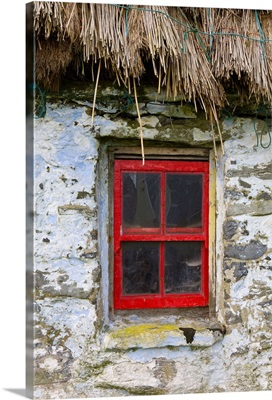 Traditional Thatched Roof Cottage, Inisheer, Aran Islands, Co. Galway, Ireland