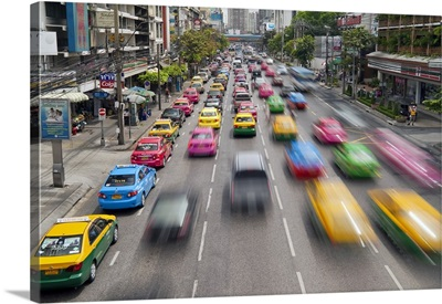 Traffic congestion in Central Bangkok, Thailand