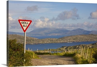 Traffic sign, Iveragh Peninsula, Ring of Kerry, Co. Kerry, Ireland