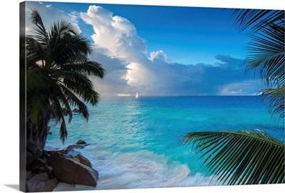 Tropical beach, La Digue, Seychelles