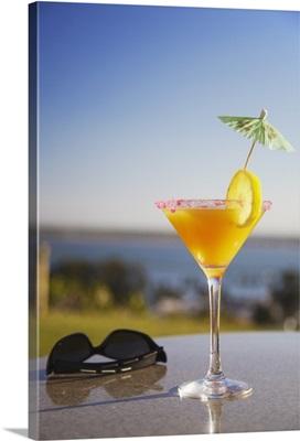 Tropical drink at Hotel Cardoso, Maputo, Mozambique