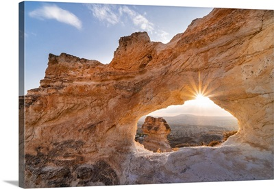 Tuff Arch Stone With Backlight, Rose Valley, Goreme, Kaisery District, Anatolia, Turkey