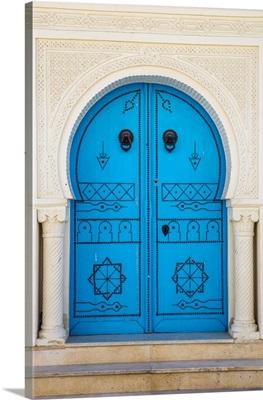 Tunisia, Kairouan, Madina, Blue Door