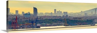 Turkey, Istanbul, Uskudar area across Bosphorus