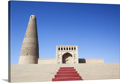 Turpan, Xinjiang, China. Emin Minaret and mosque