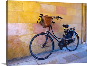 uk england cambridge clare college bicycle wall art canvas prints framed prints wall. Black Bedroom Furniture Sets. Home Design Ideas