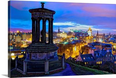 UK, Scotland, Edinburgh, Calton Hill, Stewart Monument