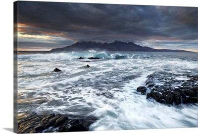 UK, Scotland, Highlands, Stormy day at Singing Sands