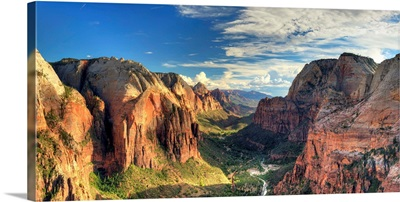 Utah, Zion National Park, Zion Canyon from Angel's Landing