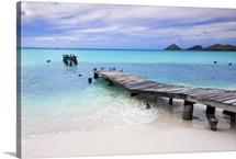 Venezuela, Archipelago Los Roques National Park, Pier on Madrisque Island