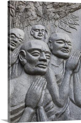 Vietnam, Nha Trang, Long Son Pagoda, Statue of Monks Preying