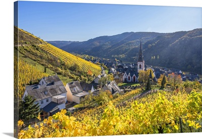 View At Ediger, Ediger-Eller, Mosel Valley, Rhineland-Palatinate, Germany