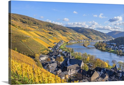 View At Zell, Mosel Valley, Rhineland-Palatinate, Germany
