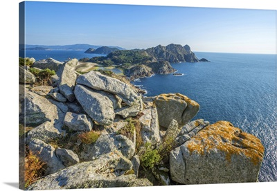 View From Alto Do Principe, Islas Cies, Vigo, Pontevedra, Galicia, Spain