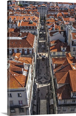 View from the Santa Justa Lift in Lisbon, Portugal