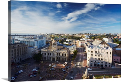 View of downtown Port Elizabeth, Eastern Cape, South Africa