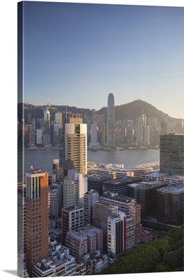 View of Hong Kong Island and Tsim Sha Tsui skylines, Hong Kong