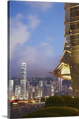 View of Hong Kong Island skyline from ICC, Hong Kong, China