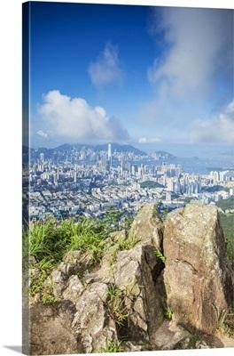 View of Kowloon and Hong Kong Island from Lion Rock, Hong Kong, China
