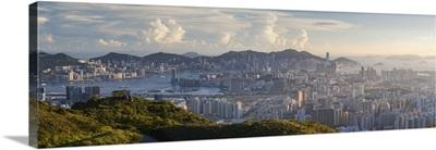 View of Kowloon and Hong Kong Island from Tate's Cairn, Kowloon, Hong Kong
