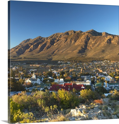 View of Montagu at sunrise, Western Cape, South Africa