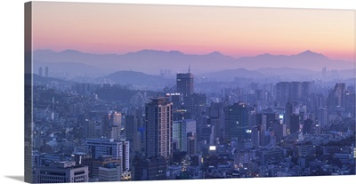 View Of Seoul At Dawn, South Korea