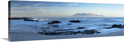 View of Table Mountain from Big Bay, Cape Town, Western Cape, South Africa
