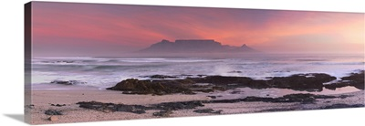View of Table Mountain from Bloubergstrand, Cape Town, Western Cape, South Africa
