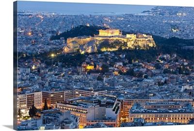 View of the Acropolis and the Parthenon Athens, Greece