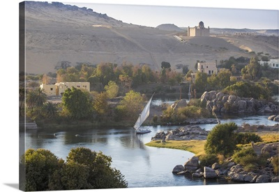 View of The River Nile and The Mausoleum of Aga Khan on the West Bank