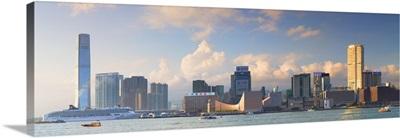View of Tsim Sha Tsui and International Commerce Centre, Hong Kong, China