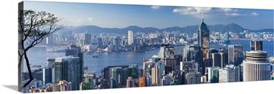 View of Wan Chai and Kowloon, Hong Kong