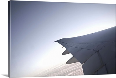 View out of the window of a Boeing 777