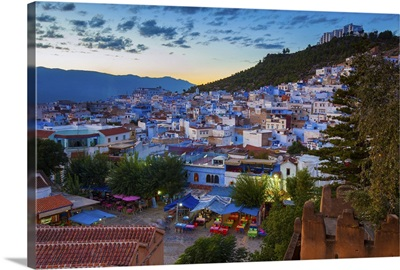 View over Chefchaouen, Morocco, North Africa