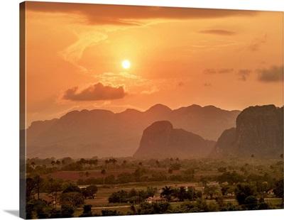 Vinales Valley At Sunset, Pinar Del Rio Province, Cuba