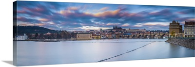 Vltava River and Prague, Czech Republic
