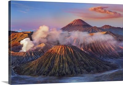 Volcanic Landscape With Semeru, Batok, Indonesia, Tengger Caldera, Sunda Arc
