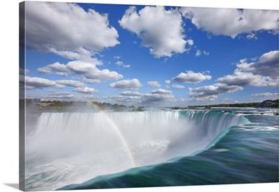 Waterfall Niagara Falls With Rainbow, Canada, Ontario, Great Lakes, Lake Ontario