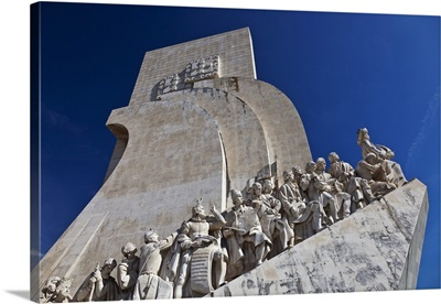 West side of the the Monument of Discoveries, Lisbon, Lisboa, Portugal