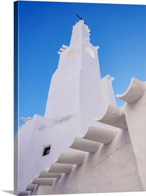 Whitewashed Church In Binibeca Vell, Menorca Or Minorca, Balearic Islands, Spain