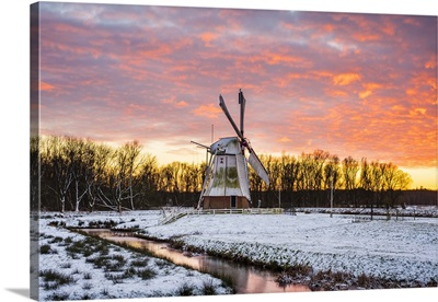 Witte Molen Dutch windmill, Harn, Groningen, North Holland, Netherlands