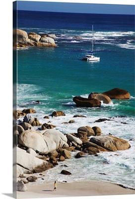 Woman on Clifton Third beach, Clifton, Cape Town, Western Cape, South Africa