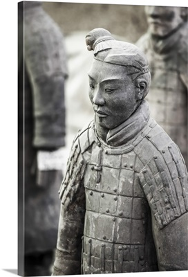 Xian, Shaanxi, China. one of the many warriors of the terracotta army (majong)
