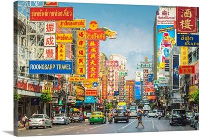 Yaowarat Road, Samphanthawong (Chinatown), Bangkok, Thailand.
