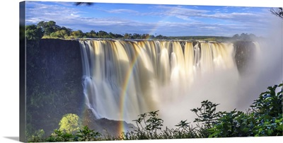 Zimbabwe, Victoria Falls, Victoria Falls National Park during rainy season