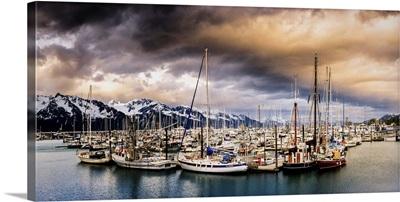 A Dramatic Sunset over Resurrection Bay, Seward, Alaska