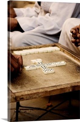 A Group of Men Play Dominoes, Luxor, Egypt