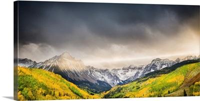 A Ray of Light Illuminates the Sneffels Range, Mount Sneffels Range, CO